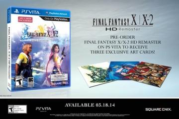 FFX/X-2 PlayStation Vita - Three Art Cards Pre-Order Offer