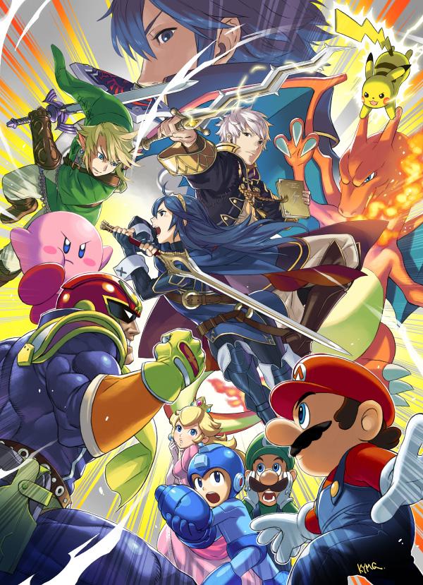 Super Smash Bros. for Wii U & 3DS - Captain Falcon, Lucina, Robin