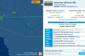 AA Flight 362 diverted to Phoenix Sky Harbor Airport