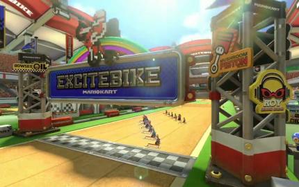 Mario Kart 8 DLC: Excitebike Arena