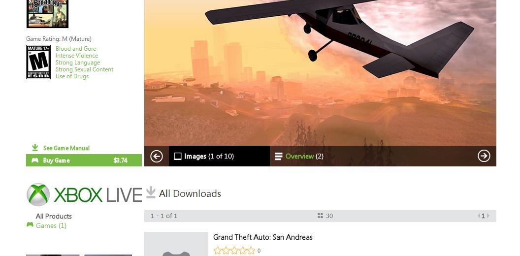 Grand Theft Auto: San Andreas   $3.74