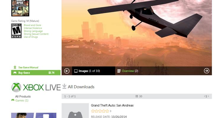 Grand Theft Auto: San Andreas | $3.74