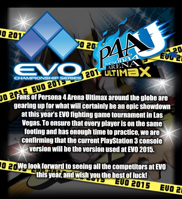 Persona 4 Arena Ultimax at EVO 2015