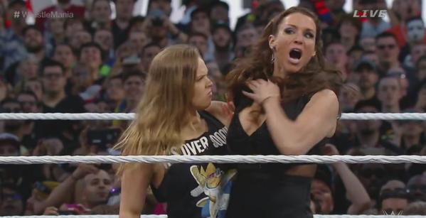 Ronda Rousey confronts Stephanie McMahon