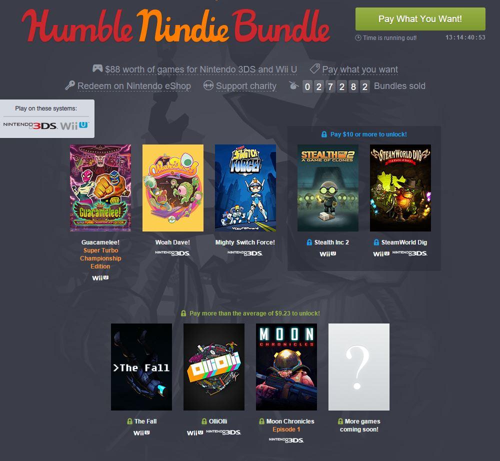 Nintendo promotes indie games via Humble Bundle