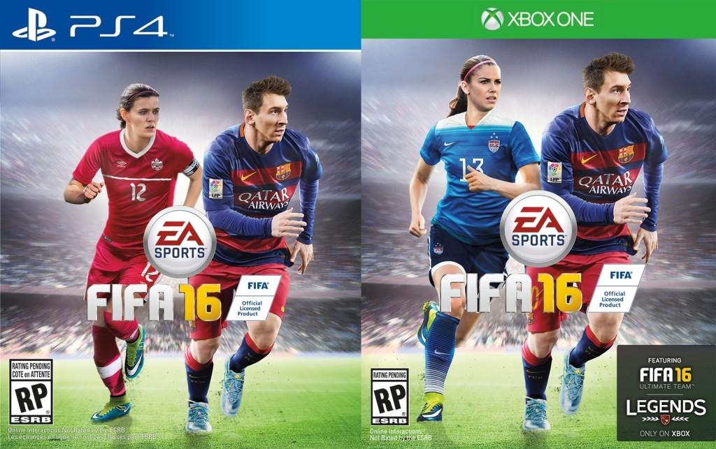 Alex Morgan y Christine Sinclair se convierten en las primeras atletas femeninas para la portadas de EA Sports FIFA