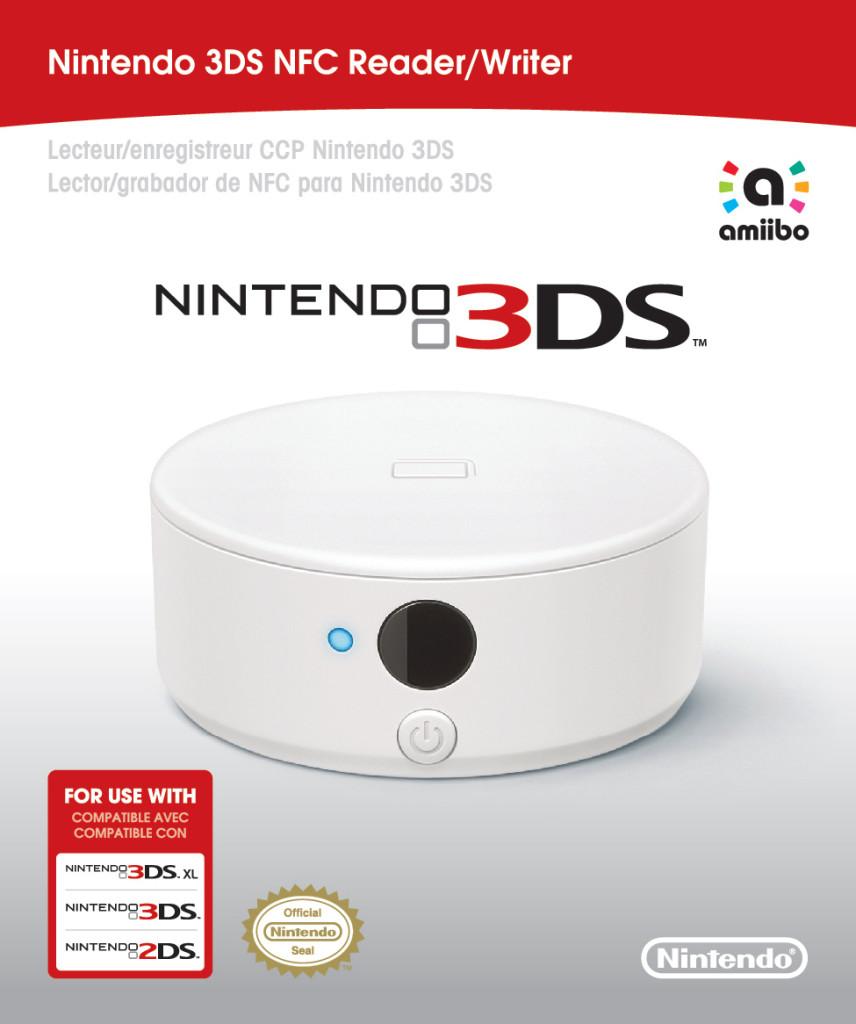 El lector/escritor NFC para los Nintendo 3DS