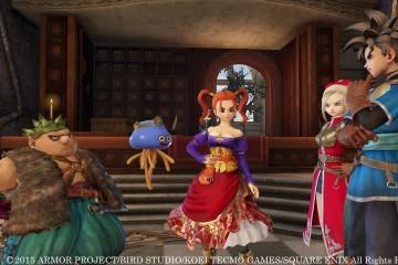 El rey Doric presenta a los personajes de Dragon Quest Heroes