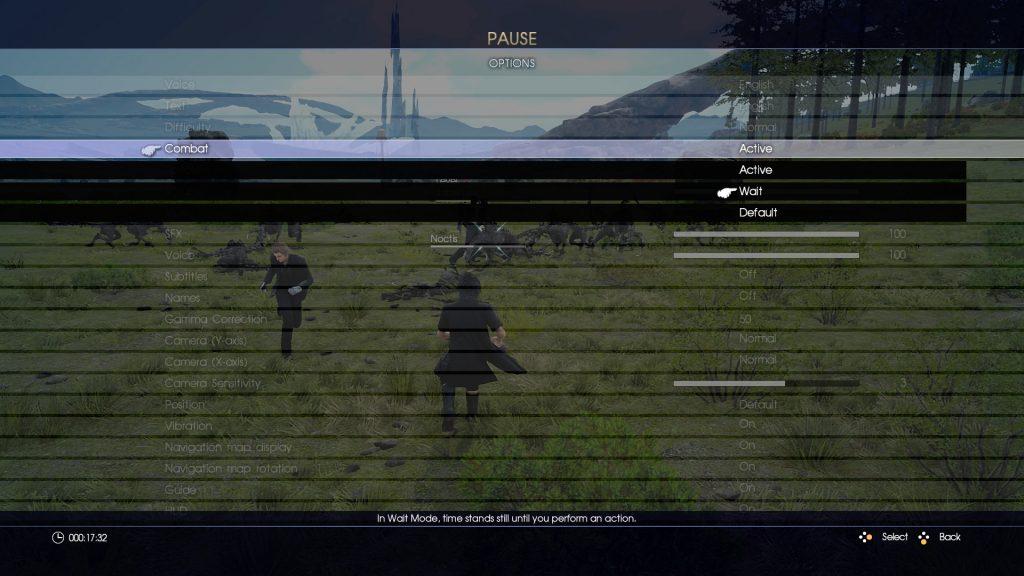 FFXV - E3 2016: Wait Mode