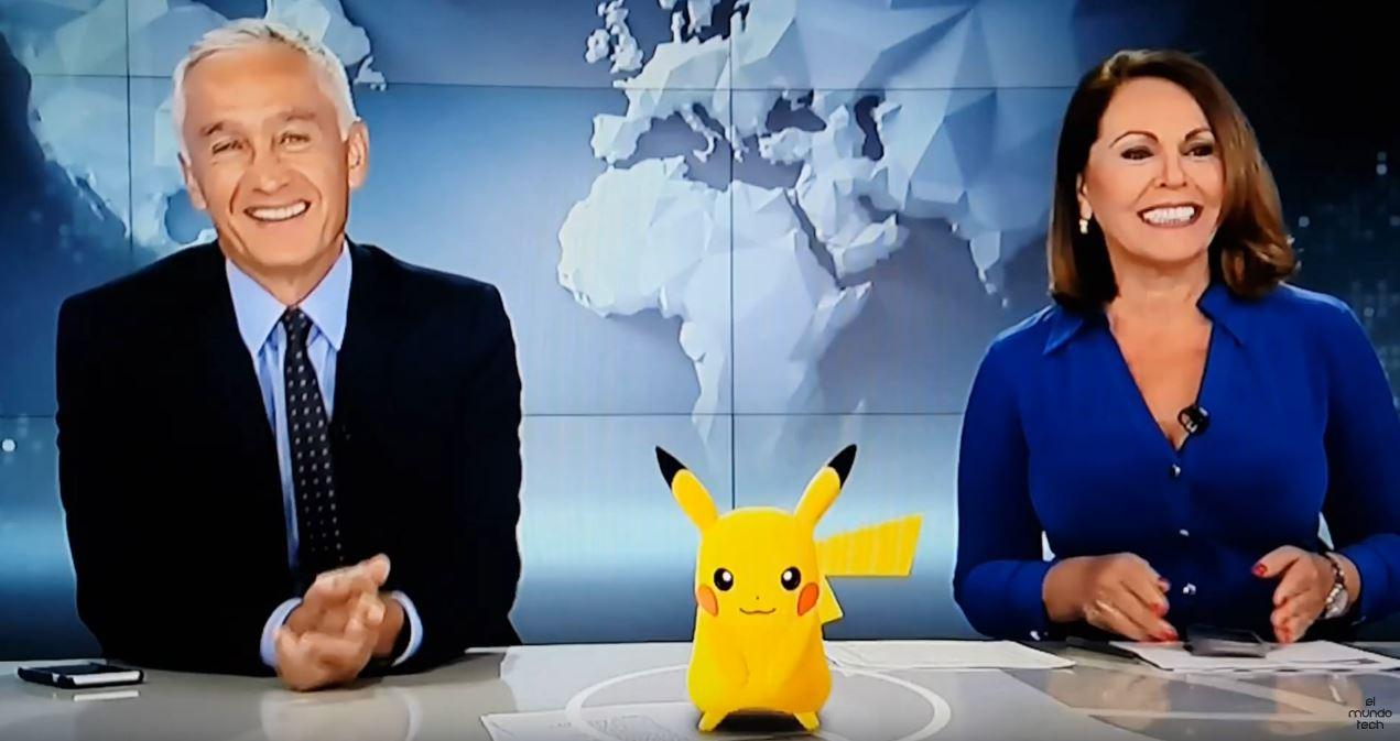 A wild Pikachu appears on Noticiero Univisión