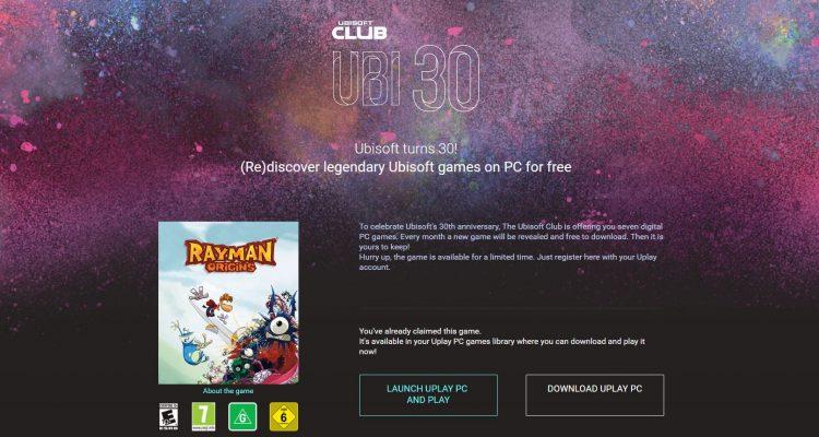 La versión PC de Rayman Origins ahora está disponible gratis