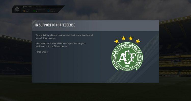 EA rinde homenaje a Chapecoense en FIFA 17